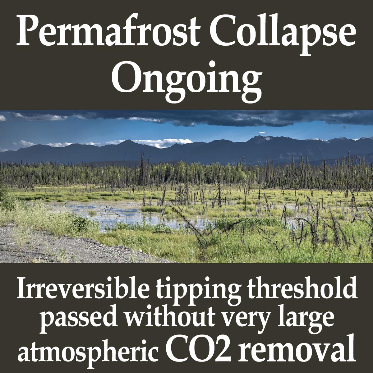 Permafrost Collapse Ongoing – Completes With No Further Warming